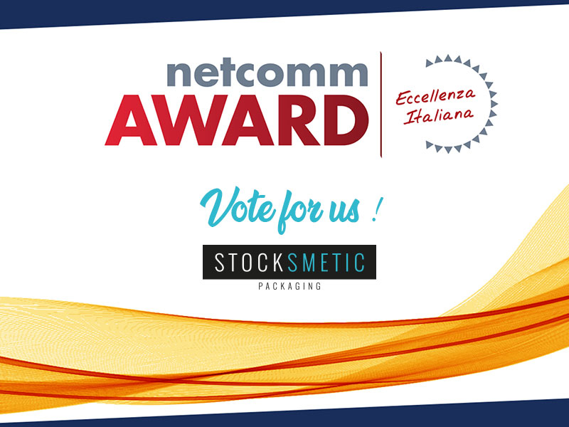 Stocksmetic Packaging si candida a Netcomm Award 2020