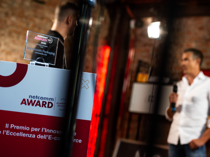 Netcomm Award 2020: Stocksmetic Packaging gewinnt den Preis in der Kategorie B2B