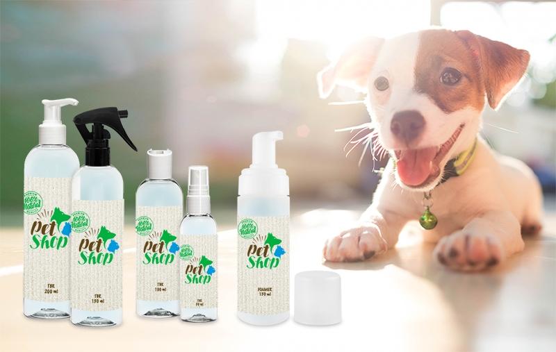 Prodotti per l'igiene del cane e del gatto con il packaging Stocksmetic