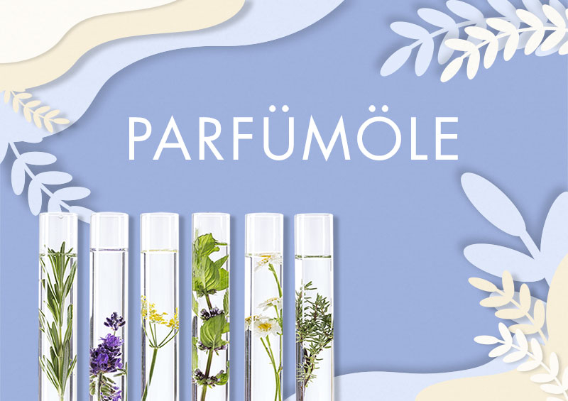 Die neue Sektion Parfümöle zur Schaffung einer eigenen Linie von Schönheitsprodukten