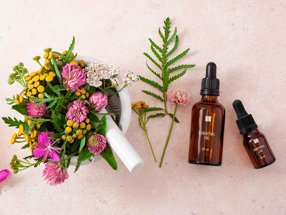 Les huiles essentielles dans les cosmétiques