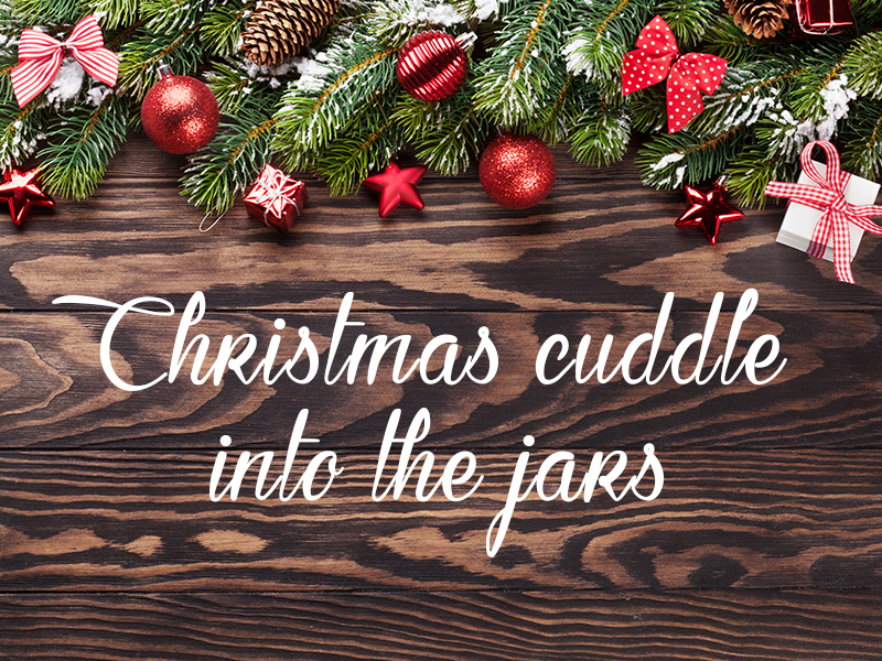 HOMEMADE COSMETICS JARS: FIVE CHRISTMAS CUDDLES INTO THE JARS.