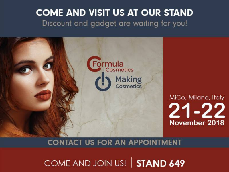 We wait for you at Making Cosmetics 2018