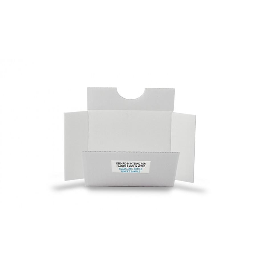 Esempio di interno in cartone microonda bianco fustellato (per pack in vetro)