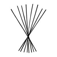 Set 8 bastoncini neri Ø 3 mm ht 23 cm