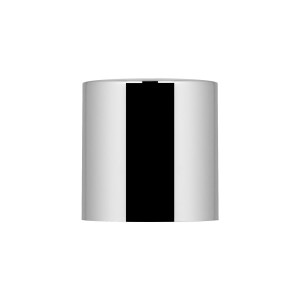 Cilindrical Cap glossy silver