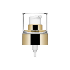 Ice lotion pump metallised glossy gold + cover 24/410