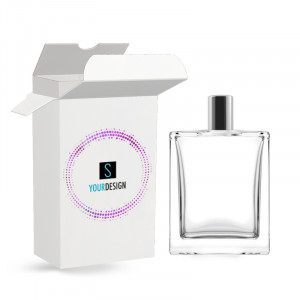 Box for Victor bottle 100ML cover-up varnished glossy white