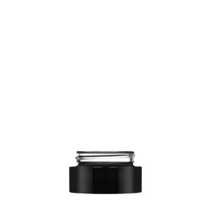 Luxe Jar 15ml/0.51oz 60/400 black opaque