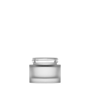Heavy glass Jar 30ml/1.01oz 45/400 frosted