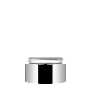 Luxe Jar 50ml/1.69oz silver metallized