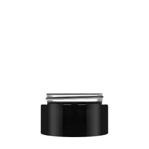 Luxe Jar 50ml/1.69oz 60/400 black opaque