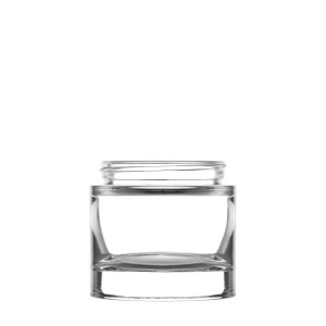 Heavy glass Jar 100ml/3.38oz 60/400 clear