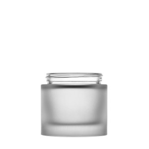 Heavy glass Jar 100ml/3.38oz 60/400 frosted