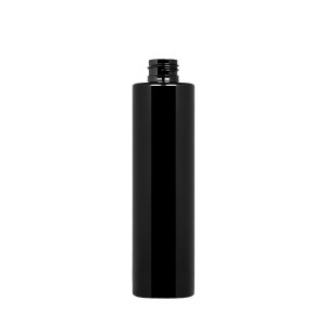 250 ml New Pure Bottle 24/410 green r-PET opaque black