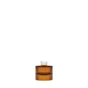 15 ml halbtransparente bernsteinfarbene Heavy Flasche
