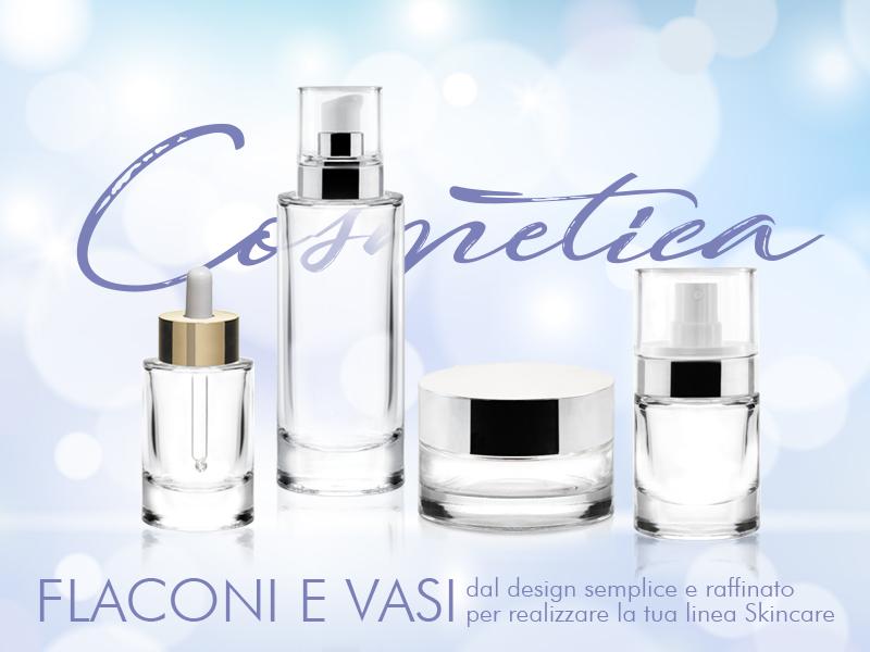 linea di contenitori per cosmetici