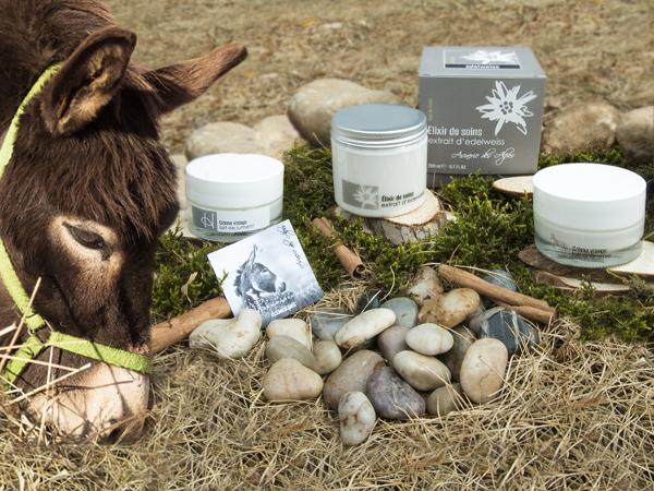I packaging cosmetici per i prodotti al latte d'asina