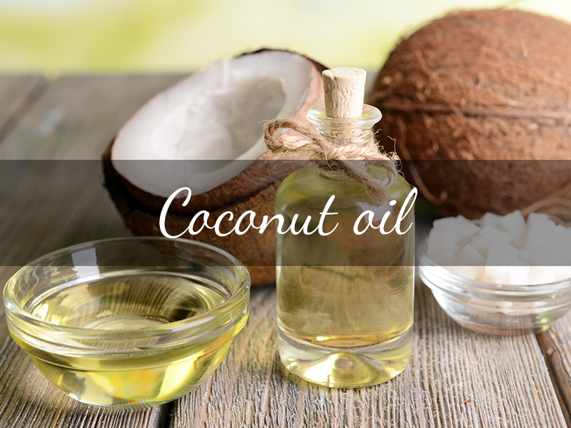 coconut oil in plastic bottles