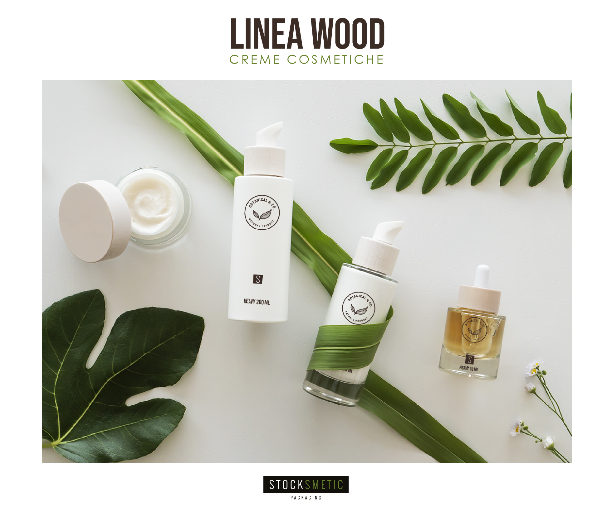 Linea Wood: i packaging per la tua linea vegan