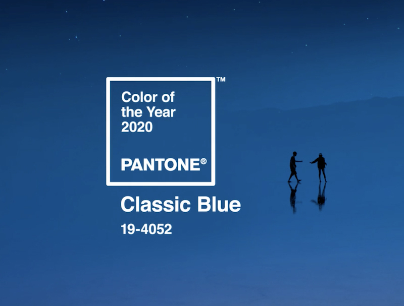 tendenze packaging 2020 pantone classic blue